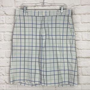 Nike Golf Windowpane Plaid Athletic Shorts 32 M